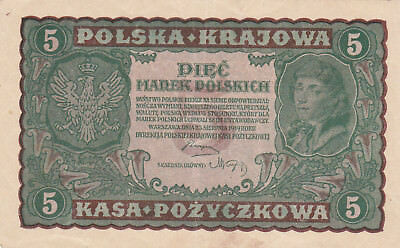 5 Marek Ef Crispy Banknote From Poland 1919!pick-24