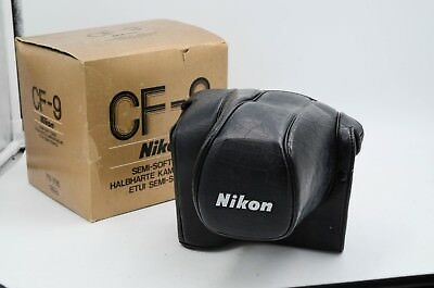 Nikon CF-9 Case for FE/FM Camera w/ MD-12 Motor Drive in ORIG BOX