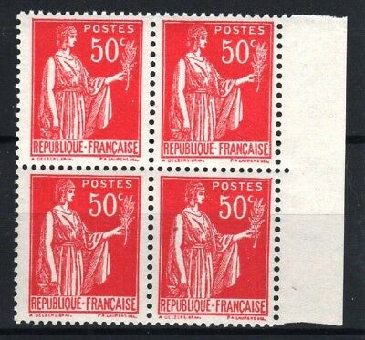 "FRANCE STAMP TIMBRE 283 s "" PAIX 50c FAUX DE BARCELONE BLOC 4"" NEUF xx LUXE R774"