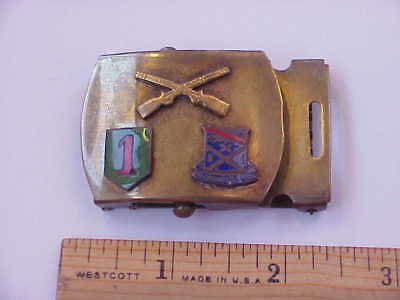 WWII Theatre Made (Germany) 1st Infantry Division/18th Regiment Belt Buckle