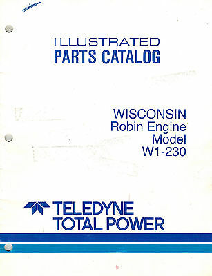 wisconsin robin w1 230 engine parts manual new $19 95 picclick Small Engine Parts Diagram
