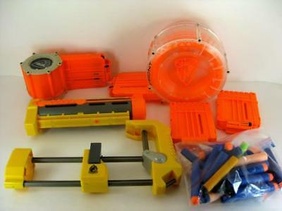 Lot Of Nerf Dart Gun Accessories Drum Stock Darts