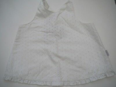 Bon Bleu white broiderie anglaise cross over back summer top blouse age 18 mths
