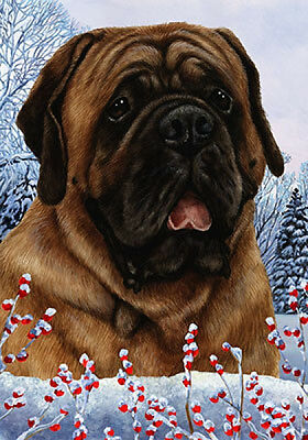 Garden Indoor/Outdoor Winter Flag - Red Mastiff 152761