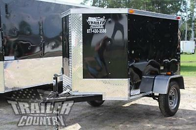 NEW 2018 4x6 4 x 6 V-Nosed Enclosed Cargo Motorcycle Bike Trailer
