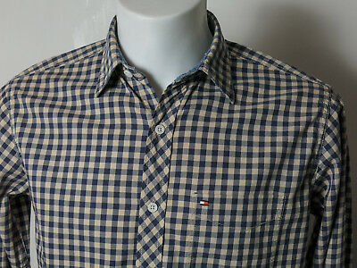 Tommy Hilfiger Mens Vintage Fit Check Shirt - Small Size - Long Sleeve