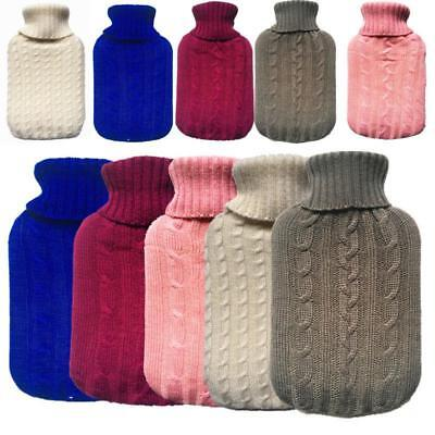 2000ml Knitted Hot Water Bottle Cover Case Heat Warm Keeping Coldproof oz&au