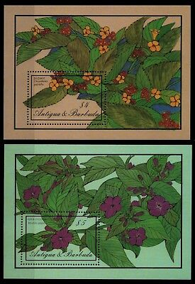Antigua 1986 - Mi-Nr. Block 113-114 ** - MNH - Blumen / Flowers