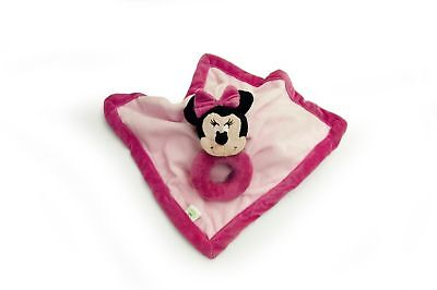 Disney Minnie Mouse Baby Lovee Security Blanket with Ring Rattle