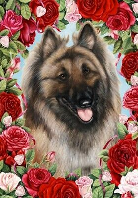 Large Indoor/Outdoor Roses Flag - Belgian Tervuren 19083