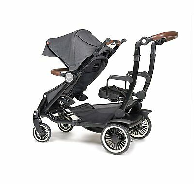 Austlen Entourage Double Stroller in Black With Sit + Stand Seat!! Free Shipping