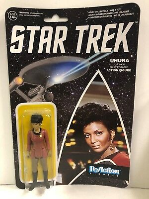 "STAR TREK THE ORIGINAL SERIES SULU 3.75/"" REACTION CARDED FIGURE BY FUNNKO TK"
