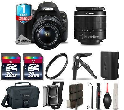 Canon EOS 200D (SL2) DSLR Camera + 18-55mm III + 1yr Warranty - 64GB Kit Bundle