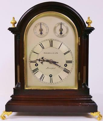 Antique German W & H Mahogany 3 Train Musical Westminster 5 Gong Bracket Clock