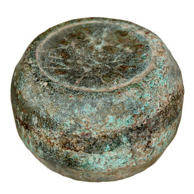 HUGE-HEAVY LATE ROMAN EARLY BYZANTINE BRONZE WEIGHT WITH MONOGRAMS 292.77 grams