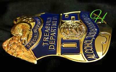 h-/ Historisches police badge + Special Investigator, Treasury Department ATF