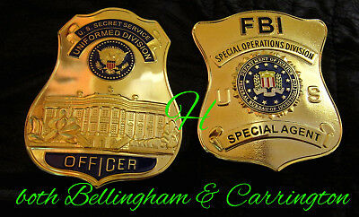 h-/ Historisches badge+ Special Agent FBI SOD or Officer Secr. Service uniformed