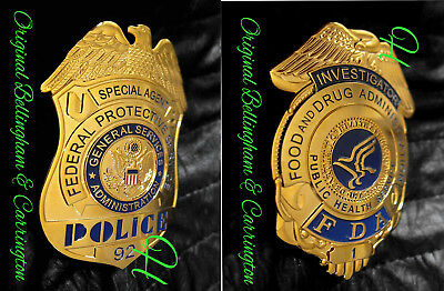 h-/ Historisches badge  choose Investigator FDA or Special Agent  FPS / hallm.