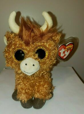 "Ty Beanie Boos - ANGUS the Highland Cow 6"" (UK Exclusive) 2018 NEW ~ IN HAND"