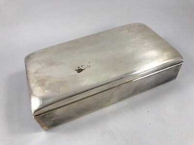 Antique/Vintage Poole Silver Co Silverplate Humidor Or Cigarette Box