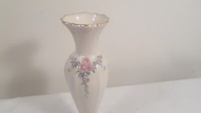 """8"""" Lenox Vase with Pink Roses"""