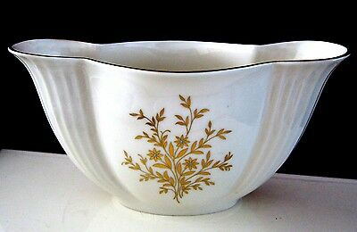 Beautiful  Lenox Vase/ Bowl  With Gold And Beads Flower Decoration Made In Usa