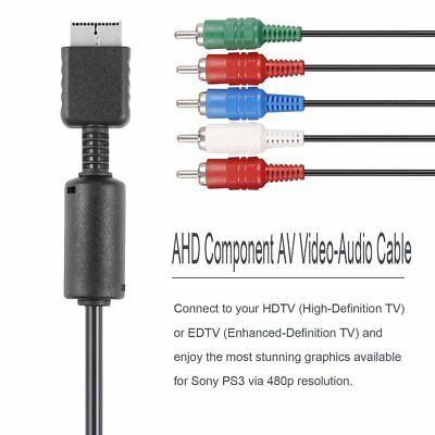 HD Component RCA AV Video-Audio Cable Cord for SONY Playstation 2 3 PS2 PS3 Hot