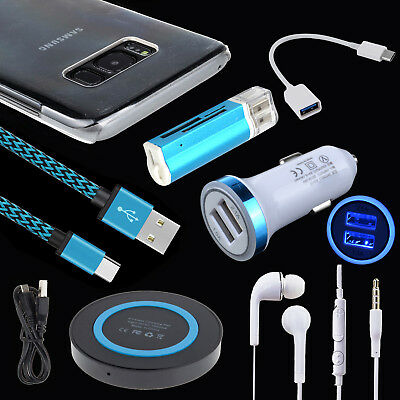 Accessory Wireless Car Charger Cable Headset Case for Samsung Galaxy S8 S9+Note8