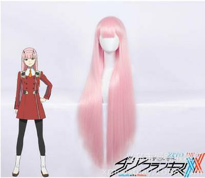 DitF DARLING in the FRANXX ZERO TWO  002 Pink Cosplay Wig / Wigs 80CM