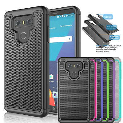 For LG G6 Phone Case Shockproof Armor Hybrid Rugged Rubber Impact Hard Cover