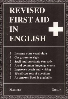 Revised First Aid in English by Maciver, Angus Paperback Book The Cheap Fast