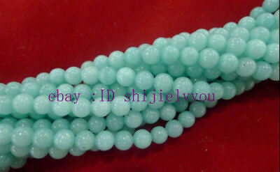 AAA 10mm  Natural  Brazilian Aquamarine Gems Round Loose Beads 15 ""