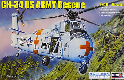 Mrc / Gallery Models 64103 - 1/48 Ch-34 Us Army Rescue - Neu