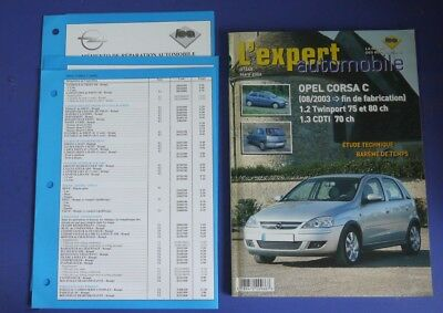 Revue technique l'expert automobile 448 opel corsa C 08/2003> essence et diesel