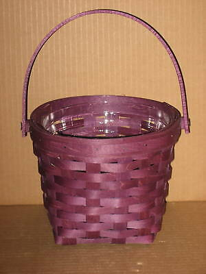 """Longaberger Rare 7"""" Measuring BRIGHTS Purple and protector Mint never used!"""