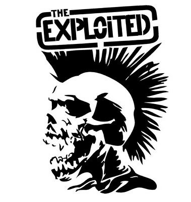 The exploited skull punk stickers punk band skinhead stickers vespa sticker