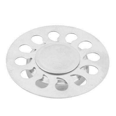 Canteen Stainless Steel Sink Strainer Filter Floor Drain Cover Cap Silver Tone