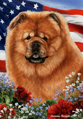 Large Indoor/Outdoor Patriotic I Flag - Chow Chow 16114