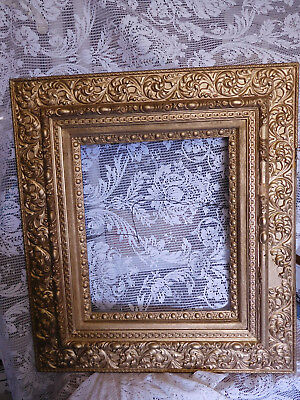 Large Antique Victorian Wood Ornate Gesso 25 x 28  Picture Frame ~ FREE SHIPPING
