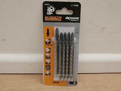 Pack Of 5 Dewalt Xpc Wood Cutting Jigsaw Blades Plungepoint  Dt2213 T144D