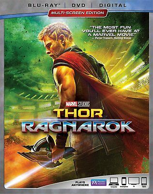 Thor: Ragnarok (Blu-ray/DVD, 2018, 2-Disc Set) - Marvel, Chris Hemsworth