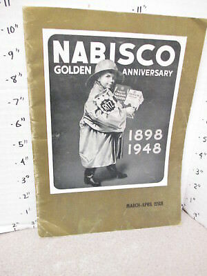 NABISCO 1948 50thAnniversary company history magazine grocery store display sign