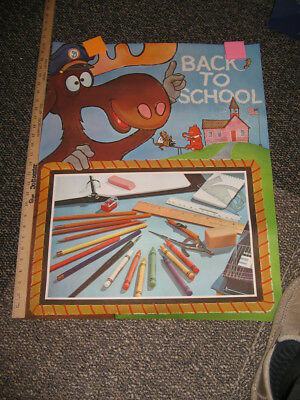 BULLWINKLE 1960s Twinkles Mr Peabody store display cereal box poster SCHOOL B