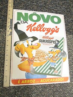 cereal box Kelloggs 1965 store display poster HILLBILLY GOAT Brazil ad character