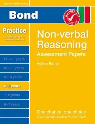 Bond Assessment Papers Non-Verbal Reasoning 8-9 yrs by Baines, Andrew Book The