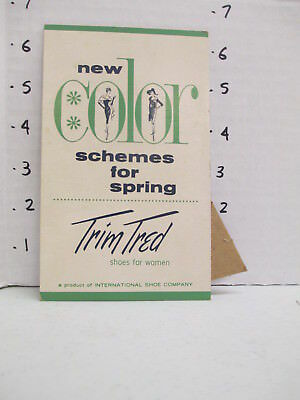TRIM TRED SHOES 1960s store display sign women's clothing Eames SPRING COLORS