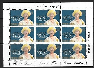 PITCAIRN ISLANDS SG206 1980 80th BIRTHDAY OF THE QUEEN MOTER MNH