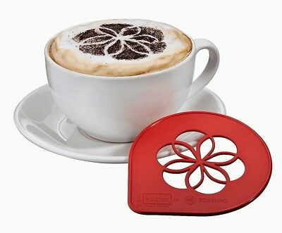 Tassimo Koziol Cappuccino Latte Stencil Cocoa Foam Print For Coffee - Red NEW