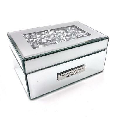 Personalised Lovely Large Crystal Channel Jewellery Box HE1097-P