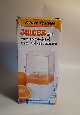 1970s Kitchenalia. Battery Operated Juicer/ Grater/ Egg Separator. 3-in-1/ Food